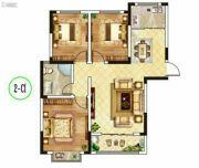 东郡华庭3室2厅1卫108--110平方米户型图