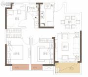 新力花园3室2厅1卫89平方米户型图