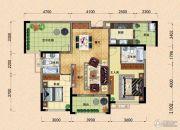 园方欧洲城2室2厅2卫105平方米户型图