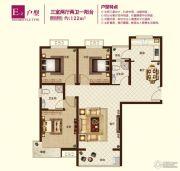 锦绣江南3室2厅2卫122平方米户型图