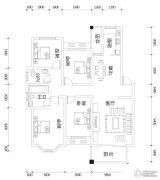 亿豪名园4室2厅2卫144平方米户型图