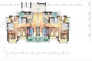 富元港景峰3室2厅2卫89平方米户型图