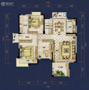 恒泰珑湖3室2厅2卫144平方米户型图