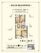 华润中心 高层3室2厅1卫111平方米户型图