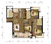 东城温泉里4室2厅2卫141平方米户型图