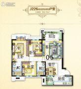 碧桂园・翡翠山3室2厅2卫109--114平方米户型图