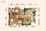 佳兆业广场3室2厅2卫89平方米户型图