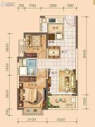北海恒大雅苑2室2厅1卫73平方米户型图