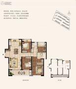 建发泱誉4室2厅2卫134平方米户型图