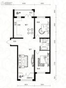 鑫都丽水雅居2室2厅1卫0平方米户型图