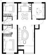 西美花盛3室2厅2卫0平方米户型图