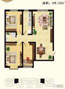 天保绿城3室2厅1卫0平方米户型图