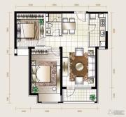 华业东方玫瑰2室2厅1卫92平方米户型图