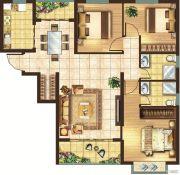 宏安莲城首府3室1厅2卫0平方米户型图