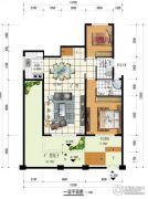 闲情偶寄3室3厅2卫92平方米户型图
