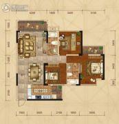 广汇・圣湖城3室2厅2卫110平方米户型图