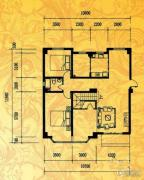 酉酉LOFT公寓2室1厅1卫105平方米户型图
