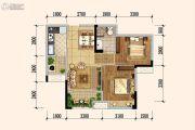 佳兆业广场2室2厅1卫64平方米户型图