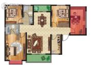 坤元TIME4室2厅2卫121平方米户型图