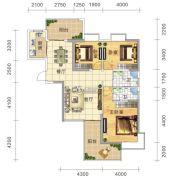 五岭国际3室2厅2卫129平方米户型图