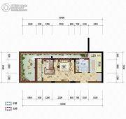 天籁谷1室1厅1卫34平方米户型图