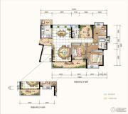 星河丹堤花园4室2厅2卫139平方米户型图