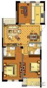 金城华府3室2厅1卫126平方米户型图