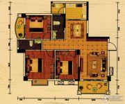 世纪金郡3室2厅2卫105平方米户型图