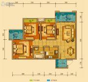 金鸿城三期归谷3室2厅1卫94平方米户型图