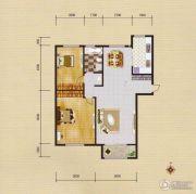 蓝远名城2室2厅1卫94平方米户型图