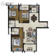 海�Z天翡3室2厅2卫126--129平方米户型图