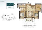招商兰溪谷3室2厅1卫0平方米户型图