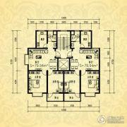 银河湾・3号院2室1厅1卫79平方米户型图