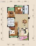 亿家龙景名都3室2厅2卫133平方米户型图