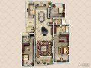 九英里颢苑3室2厅3卫245平方米户型图