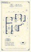 阳光揽胜2室2厅1卫79--81平方米户型图