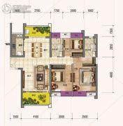 时代倾城3室2厅2卫120平方米户型图