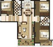 禹州御湖湾3室2厅2卫0平方米户型图