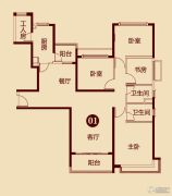 恒大雅苑4室2厅2卫158平方米户型图