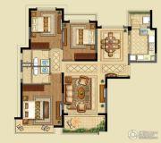 恒大山水城3室2厅2卫130平方米户型图
