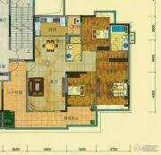 珠光流溪御景3室2厅2卫146平方米户型图