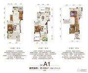 佳兆业水岸华府3室2厅3卫166平方米户型图
