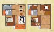 友谊嘉御龙庭4室2厅2卫144--151平方米户型图