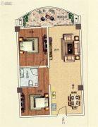 佳田西湖岸2室2厅1卫101平方米户型图