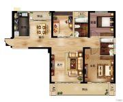 深业世纪新城3室2厅2卫107平方米户型图