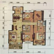金地锦城4室2厅2卫151平方米户型图