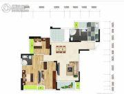 中冶城邦国际2室1厅2卫117平方米户型图