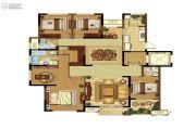 高科荣境4室2厅3卫178平方米户型图