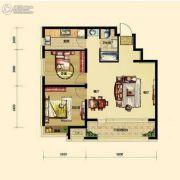 保利香槟国际2室2厅1卫87平方米户型图