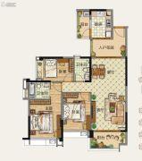雅居乐森岚3室2厅2卫0平方米户型图